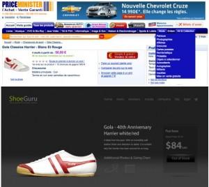 Visuel Chaussure | Différence entre Priceminister.com et Shoeguru.ca