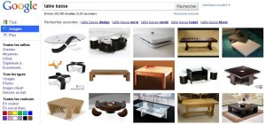 Recherche Table basse sur Google Images