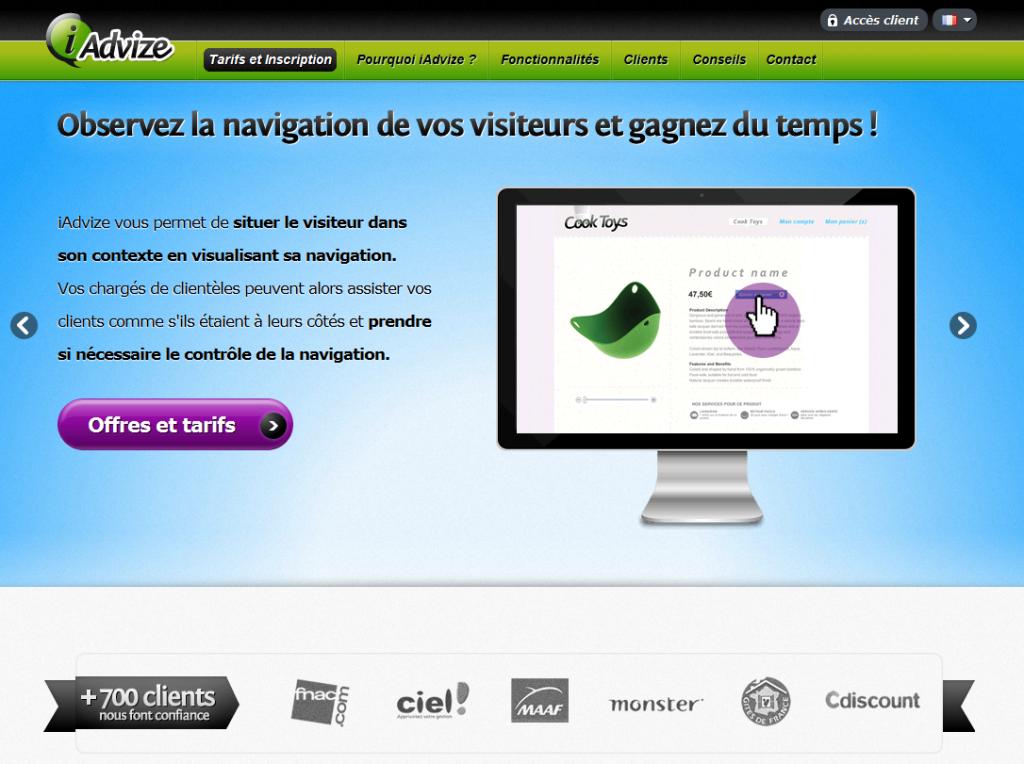 Homepage iAdvize
