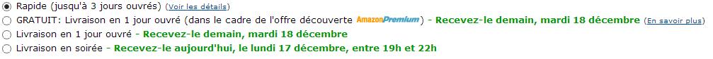Sélectionner des options de livraison   Processus de paiement Amazon.fr