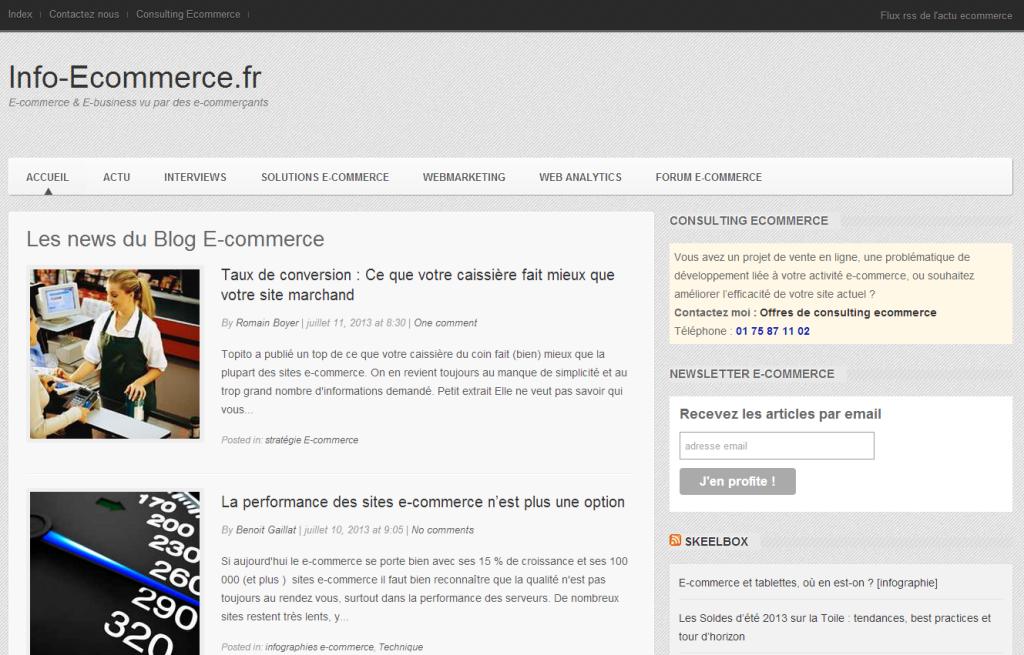 Blog Ecommerce et actualités E commerce sur Info Ecommerce.fr