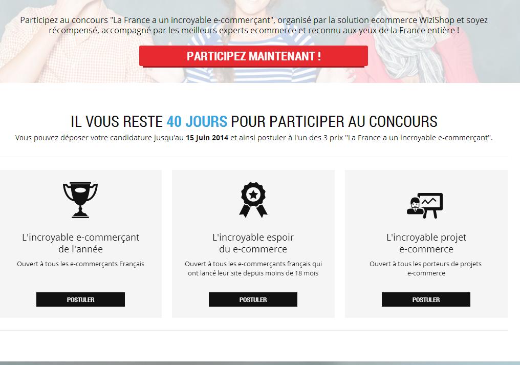 Concours   La France a un Incroyable Ecommerçant