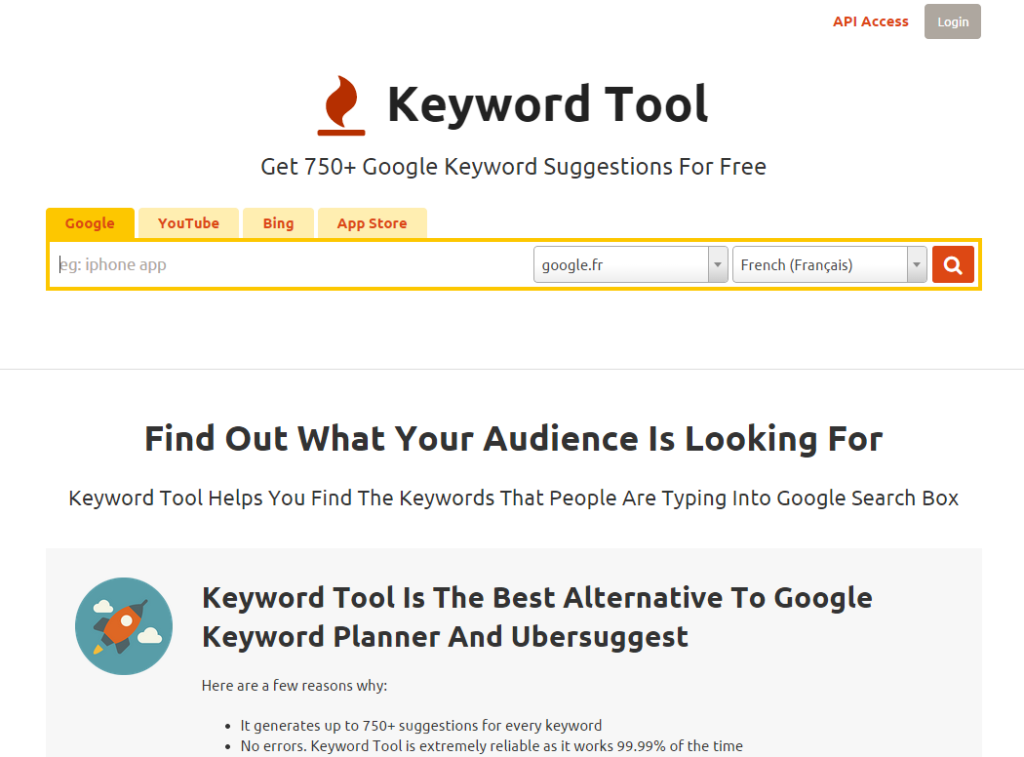 Keyword Tool  FREE Alternative to Google Keyword Planner