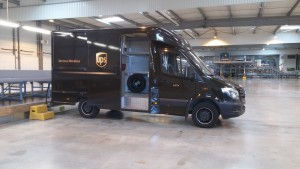 Un camion UPS
