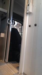 Porte sécurisée de la cabine camion UPS